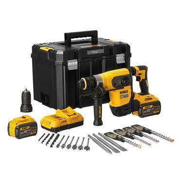 DEWALT DCH417X2-GB 54V XR Flexvolt 4kg 32mm SDS-Plus Multi Drill, 2 x 9.0Ah Batteries