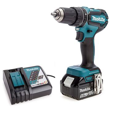 MAKITA DHP485STX5 18V LXT Brushless Combi Drill with 101 Piece Accessory Kit