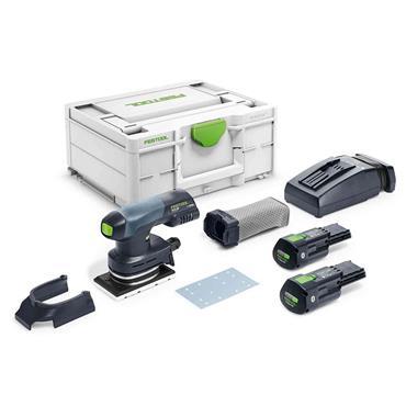 FESTOOL 576349 18V RTSC 400 3,1 I-Plus Cordless Orbital Sander, 2 x BP 18 Li 3.1 ERGO-I battery pack