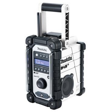 MAKITA DMR110W 18V LXT / 12V White MAX CXT DAB+ Digital Job Site Radio, Bare Unit
