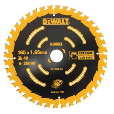 DeWalt DT10640-QZ 165mm 40T Extreme Framing Circular Saw Blade