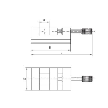 BISON 6552-80 Precision Vice
