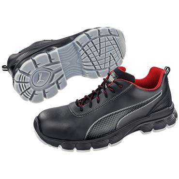 Puma Pioneer Low S3 ESD SRC Black/Grey Safety Shoes