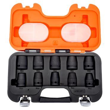 "Bahco D/S10 10 Piece Metric Standard 1/2"" Drive Impact Socket Set"