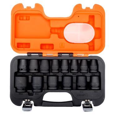 "Bahco D/S14 14 Piece Metric Standard 1/2"" Drive Impact Socket Set"