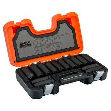 "Bahco DD/S14 14 Piece Metric Deep 1/2"" Impact Socket Set"