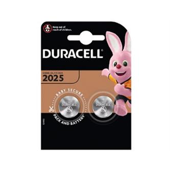 DURACELL CR2025 3V Lithium Coin batteries, 2 Pack