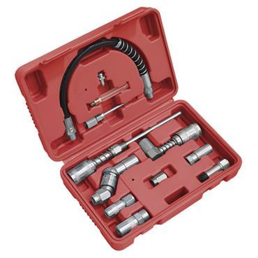 SEALEY AK4482 Grease Gun  Adaptor 12 piece  Kit