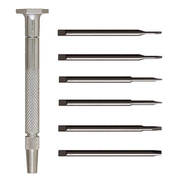 Moody Steel Handle Slotted Screwdriver Set