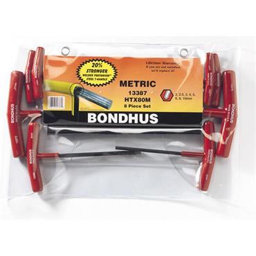 Bondhus Ballpoint T-Handle Metric Hex Tool Set