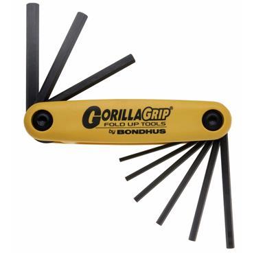 Bondhus 12589 9 Piece Gorilla Grip Fold Up Imperial Hex Key Set
