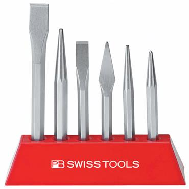 PB Swiss Tools 855.BL 6 Piece Chisel Set
