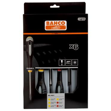 Bahco BE-9881 6 Piece Ergo Insulated Screwdriver Set