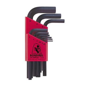 Bondhus Chamfered L-Wrench Metric Hex Key Set