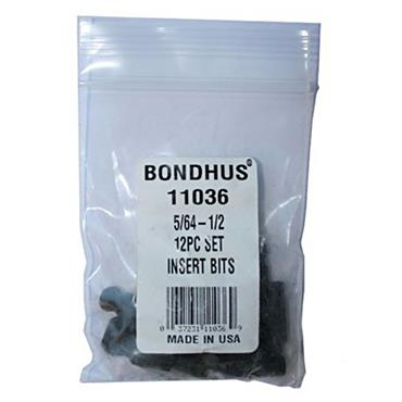 Bondhus BIX12 12 Piece Imperial Balldriver Insert Bit Set
