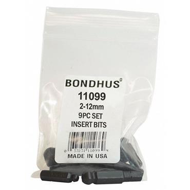Bondhus BIX9m 9 Piece Metric Balldriver Insert Bit Set