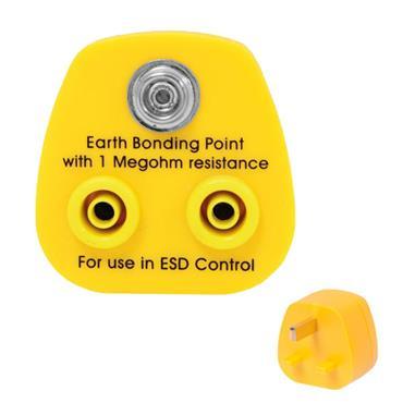 Citec Earth Bonding Plug 1 x 10mm Stud & 2 x 4mm Banana