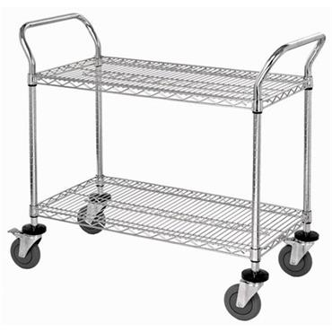ISS 2 Shelf Utility Wire Shelving Carts