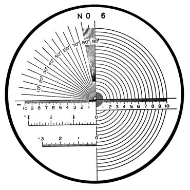 Mitutoyo 183-107 #6 Reticle For Pocket Comparators