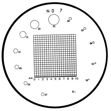 Mitutoyo 183-108 #7 Reticle For Pocket Comparators