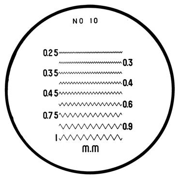 Mitutoyo 183-111 #10 Reticle For Pocket Comparators
