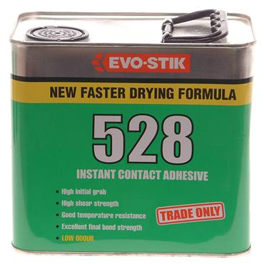 Evo-Stik 528 Heavy-Duty Instant Translucent Amber Contact Adhesives