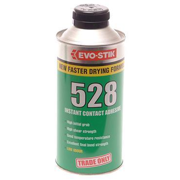 Evo-Stik 528 Heavy-Duty Instant Translucent Amber Contact Adhesives