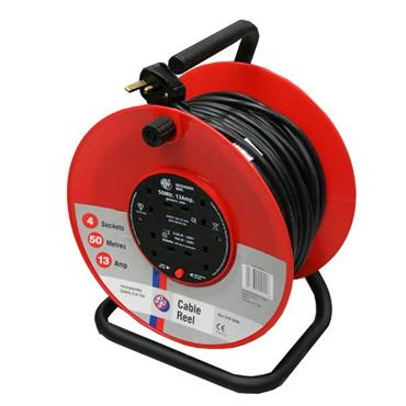 JO JO 45013 240 Volt 50m 4-Way Heavy Duty Open Extension Reel