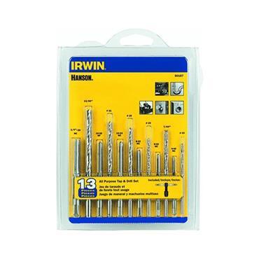 IRWIN 80187 13 Piece Tap & Drill Set
