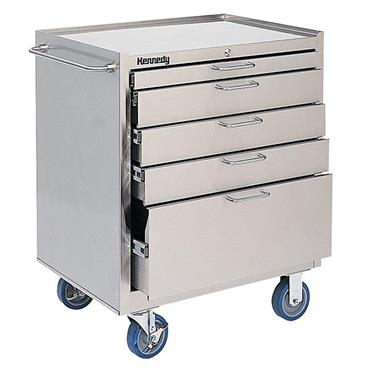 KENNEDY 28085 Stainless Steel Roller 5 Drawer Cabinets