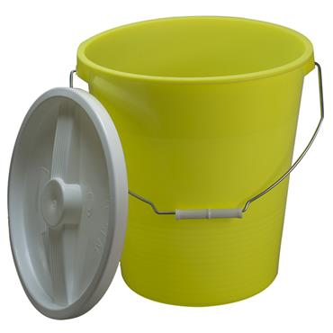 CITEC F16772-0000 13.2 Litre Yellow Polyethylene Non-Autoclavable Bucket