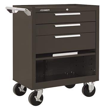 Kennedy 273 3-Drawer Brown Roller Cabinet