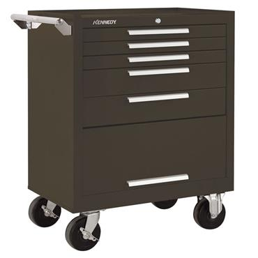 Kennedy 275XB 5-Drawer Brown Heavy Duty Tool Storage Roller Cabinet