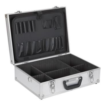 Sealey 450 x 330 x 150mm Square Edges Aluminium Tool Case - AP603