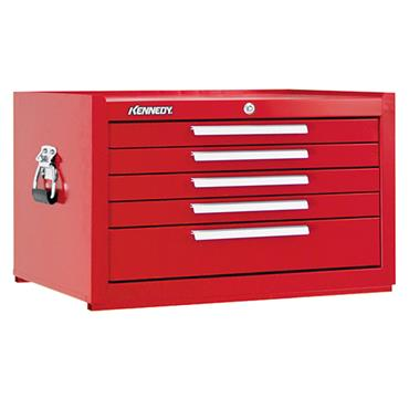 Kennedy 2805 5-Drawer Smooth Red Mechanic Tool Chest