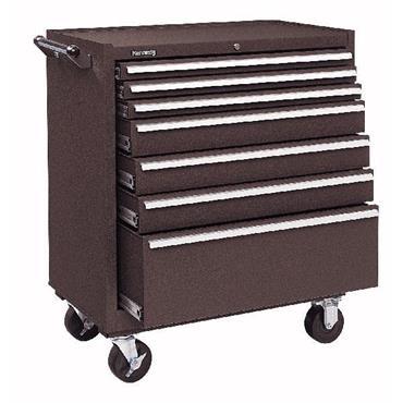 Kennedy 3407X 7-Drawer Brown Heavy Duty Roller Cabinet