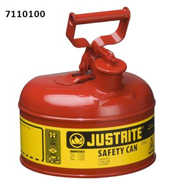 Justrite Flammable Type I Steel Safety Can