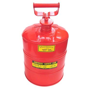 Justrite 10701 11 Litre Type I Steel Safety Can with Cork Gaskets