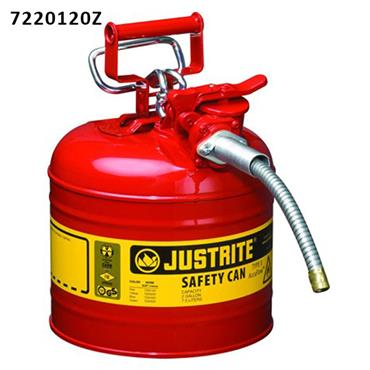 Justrite AccuFlow Type II Flammable Steel Safety Can