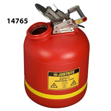Justrite Liquid Disposal Polyethylene Safety Cans