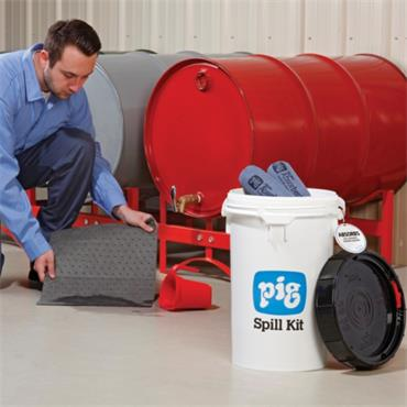 New Pig 15 Litre Spill Response Bucket and Holder