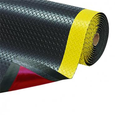 NO TRAX  Cushion Trax Safety / Anti-Fatigue Matting- Dry Area - Black/Yellow