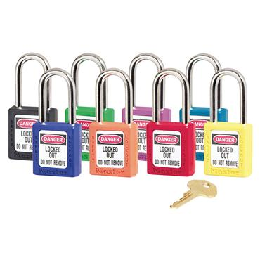 Masterlock 410KAMK Zenex Thermoplastic Safety Padlock