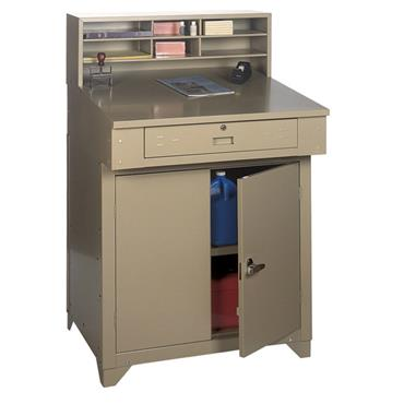 Edsal PSD7813 Tan Premium Closed Shop Desk