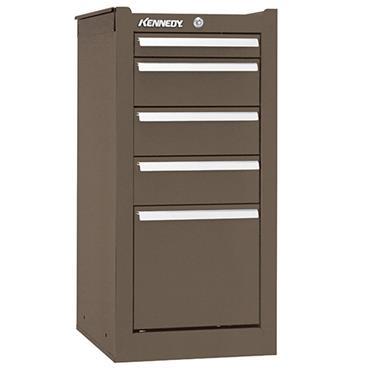 Kennedy 185 5-Drawer Brown Heavy Duty Side Cabinet