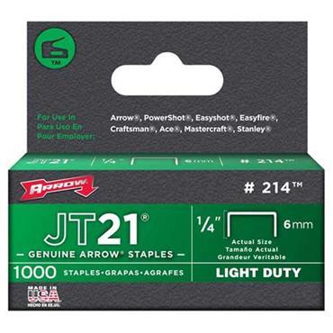 Arrow JT21 Genuine Light-Duty Staples for JT21M Staple Gun