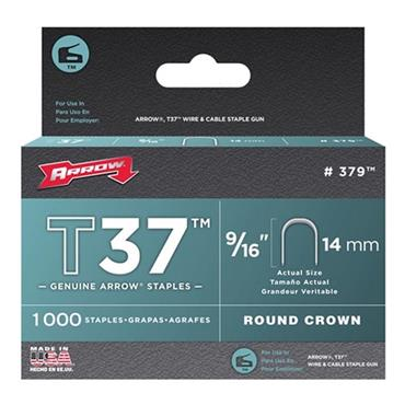 Arrow 37 Round Crown Staples for T37 Cable Tacker