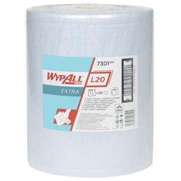Kimberly Clarke  7301 Wypall L20 Extra Wipers - Large Roll / Blue