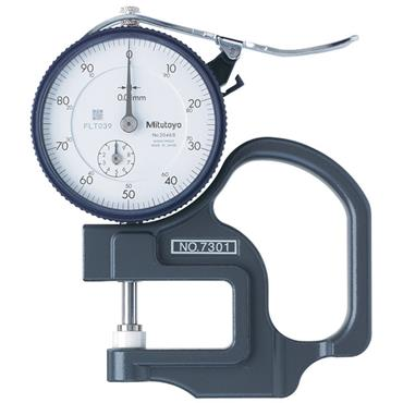 Mitutoyo 7301 0-10mm Dial Indicator Thickness Gauge