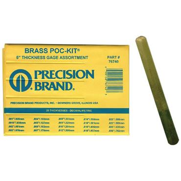 PRECISION BRAND Brass Feeler Gauge